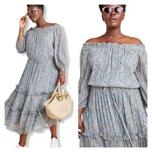 Anthropologie Kira Off-The-Shoulder Peasant Dress